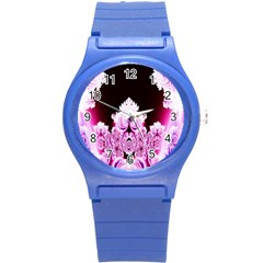 Fractal In Pink Lovely Round Plastic Sport Watch (s) by Simbadda