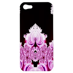 Fractal In Pink Lovely Apple Iphone 5 Hardshell Case by Simbadda