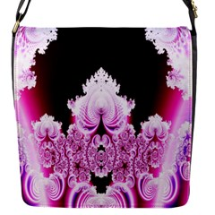 Fractal In Pink Lovely Flap Messenger Bag (s) by Simbadda