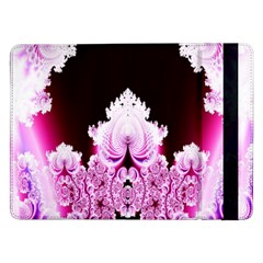 Fractal In Pink Lovely Samsung Galaxy Tab Pro 12 2  Flip Case by Simbadda