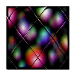 Soft Balls In Color Behind Glass Tile Tile Coasters