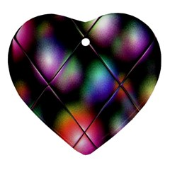 Soft Balls In Color Behind Glass Tile Ornament (heart) by Simbadda