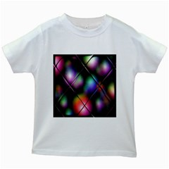 Soft Balls In Color Behind Glass Tile Kids White T Shirts by Simbadda