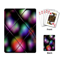 Soft Balls In Color Behind Glass Tile Playing Card by Simbadda