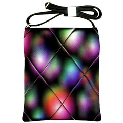 Soft Balls In Color Behind Glass Tile Shoulder Sling Bags by Simbadda
