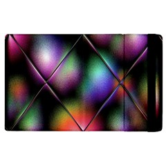 Soft Balls In Color Behind Glass Tile Apple Ipad 3/4 Flip Case by Simbadda