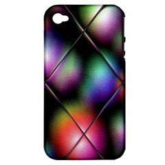 Soft Balls In Color Behind Glass Tile Apple Iphone 4/4s Hardshell Case (pc+silicone)