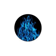 Digitally Created Blue Flames Of Fire Golf Ball Marker (10 Pack)