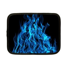 Digitally Created Blue Flames Of Fire Netbook Case (small)