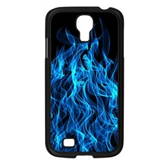 Digitally Created Blue Flames Of Fire Samsung Galaxy S4 I9500/ I9505 Case (black) by Simbadda