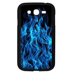 Digitally Created Blue Flames Of Fire Samsung Galaxy Grand Duos I9082 Case (black) by Simbadda