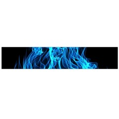 Digitally Created Blue Flames Of Fire Flano Scarf (large) by Simbadda