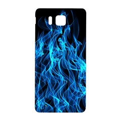 Digitally Created Blue Flames Of Fire Samsung Galaxy Alpha Hardshell Back Case by Simbadda