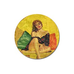 Pin Up Girl  Magnet 3  (round)