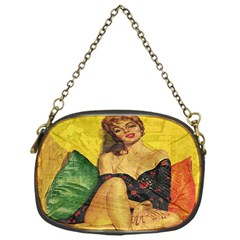 Pin Up Girl  Chain Purses (one Side)  by Valentinaart