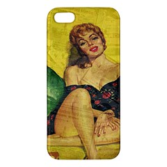 Pin Up Girl  Apple Iphone 5 Premium Hardshell Case