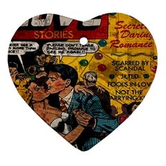 Love Stories Heart Ornament (two Sides)