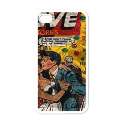 Love Stories Apple Iphone 4 Case (white) by Valentinaart