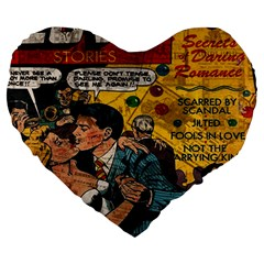 Love Stories Large 19  Premium Heart Shape Cushions by Valentinaart