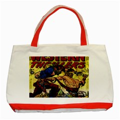 Western Thrillers Classic Tote Bag (red) by Valentinaart