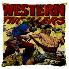 Western Thrillers Large Cushion Case (one Side) by Valentinaart