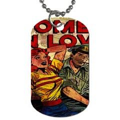 Woman In Love Dog Tag (two Sides) by Valentinaart