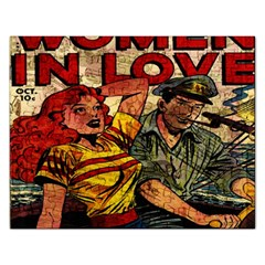 Woman In Love Rectangular Jigsaw Puzzl by Valentinaart