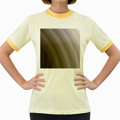 Fractal Background With Grey Ripples Women s Fitted Ringer T Shirts