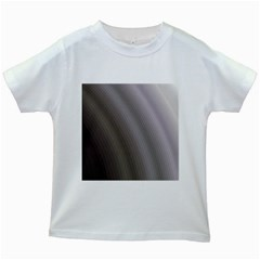 Fractal Background With Grey Ripples Kids White T Shirts