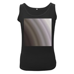 Fractal Background With Grey Ripples Women s Black Tank Top