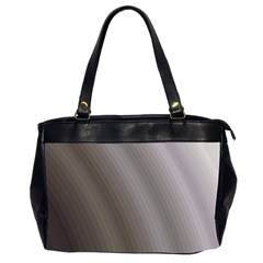 Fractal Background With Grey Ripples Office Handbags (2 Sides)  by Simbadda