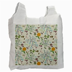 Floral Kraft Seamless Pattern Recycle Bag (two Side)  by Simbadda