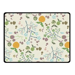 Floral Kraft Seamless Pattern Fleece Blanket (small) by Simbadda