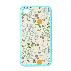 Floral Kraft Seamless Pattern Apple Iphone 4 Case (color)