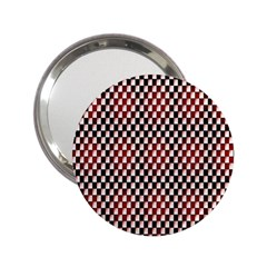 Squares Red Background 2 25  Handbag Mirrors by Simbadda