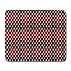 Squares Red Background Large Mousepads by Simbadda