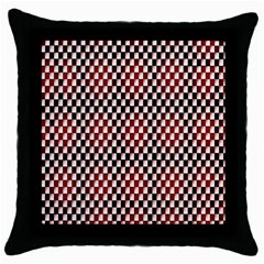 Squares Red Background Throw Pillow Case (black) by Simbadda