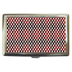 Squares Red Background Cigarette Money Cases by Simbadda