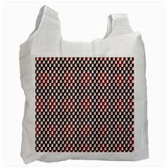 Squares Red Background Recycle Bag (two Side)  by Simbadda