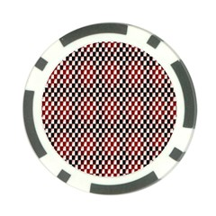 Squares Red Background Poker Chip Card Guard (10 Pack)