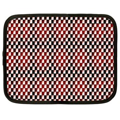 Squares Red Background Netbook Case (xl)  by Simbadda