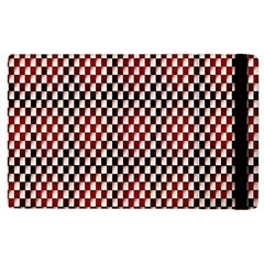 Squares Red Background Apple Ipad 2 Flip Case by Simbadda
