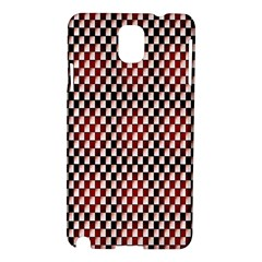 Squares Red Background Samsung Galaxy Note 3 N9005 Hardshell Case by Simbadda