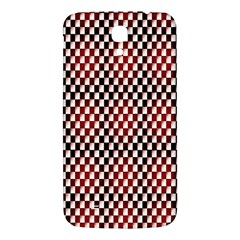 Squares Red Background Samsung Galaxy Mega I9200 Hardshell Back Case by Simbadda