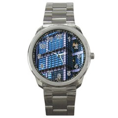 Modern Business Architecture Sport Metal Watch by Simbadda