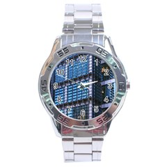 Modern Business Architecture Stainless Steel Analogue Watch by Simbadda