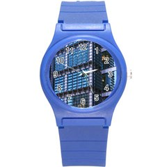 Modern Business Architecture Round Plastic Sport Watch (s) by Simbadda