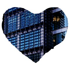 Modern Business Architecture Large 19  Premium Heart Shape Cushions by Simbadda