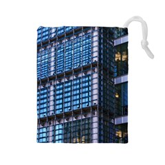 Modern Business Architecture Drawstring Pouches (large)  by Simbadda