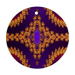 Something Different Fractal In Orange And Blue Ornament (round)